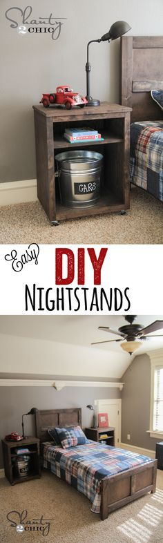 Cute and Easy DIY Nightstands… LOVE these! www.shanty-2-chic.com