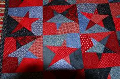 For my friends new home. It is a stack and whack quilt