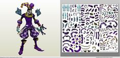 Papercraft .pdo file template for League of Legends - Shaco Royal.