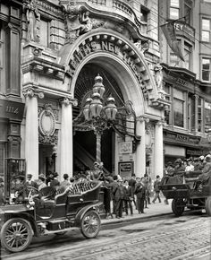 """Philadelphia circa ""Entrance to Keith's Theatre."" When was the last time you patronized your local vaudeville house?"" Shorpy: ""Philadelphia circa ""Entrance to Keith's Theatre."" When was the last time you patronized your local vaudeville house? Old Pictures, Old Photos, Vintage Photographs, Vintage Photos, Shorpy Historical Photos, Historical Pictures, Shops, Jolie Photo, Thats The Way"