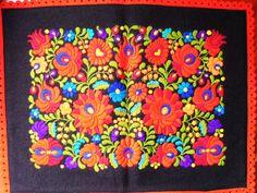 Vintage Hungarian Hand Embroidered Matyo Felt Pillowcase Pillow Sham cover    eBay