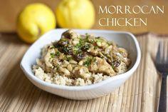 Marokkanisches Hähnchen über Couscous
