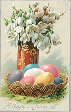 Old Easter Post Card —  A Happy Easter to You,  1908  (1048×1658)