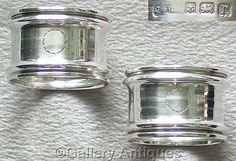 FOR SALE Pair of #Antique #Sterling #Silver #Napkin Rings HM Birmingham, 1916 £65 #followvintage #etsy