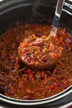 Slow Cooker Chili | Cooking Classy Great for when me and my partner are both working, stick it on in the morning ready when I get home.