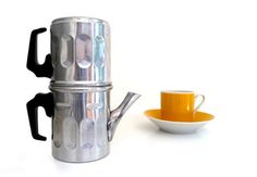 Vintage aluminum coffee maker  Neapolitan flip by madlyvintage