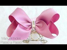 "Diy - Big Laçarote ""Carinha de Anjo"" - Pap - Make to hair bow Kanzashi Flowers, Ribbon Hair Bows, Diy Hair Accessories, Girls Bows, How To Make Bows, Little Princess, Diy Hairstyles, Diy And Crafts, Creative"