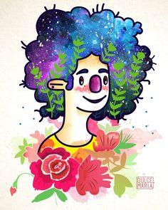 Flores y galaxia en vectores.  Disponible para imprimir! Sólo me tienen que enviar un email o escribir por privado y les envío el archivo en el formato que quieran.   Totalmente gratis   .  .  .  #vector #illustration #illustrator #adobeillustrator #adobephotoshop #digitalart #desing #decoracão #decoracion #characterdesign #artlovers #flowers #girlpower #creative #roses #color #cool #art #baires #buenosaires #Argentina