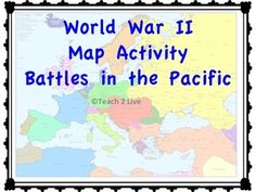 World war 2 map activity major battles color and label map for world war 2 map activity battles in the pacific gumiabroncs Gallery