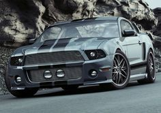 The latest version of the Ford Mustang gets the Eleanor treatment from the aftermarket specialists from Reifen Koch. Reifen Koch's Mustang is 2005 Mustang Gt, Ford Mustang Gt500, Mustang Cars, Ford Mustangs, Shelby Gt500, Sexy Cars, Hot Cars, Mustang Tuning, Pony Car