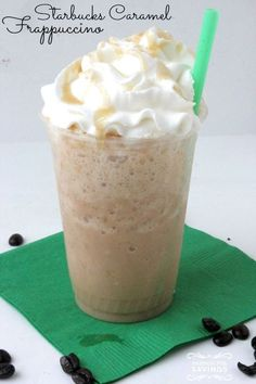 Copycat Starbucks Caramel Frappuccino Recipe! Easy Starbucks Drink Recipe!