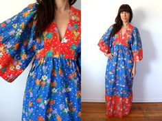Vintage 1960's Hippie Maxi Dress Young Innocent by TheVelvetMoon, $69.00