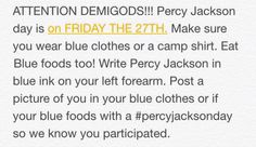 Percy Jackson day!