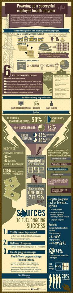 Infographic of an award-winning corporate wellness program   HealthFitness