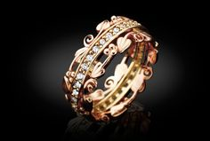 Am Byth Ring, featuring Tree of Life design and rare Welsh gold from Clogau(Clog-eye) #Wales #gold
