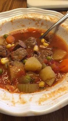 Vegetable Beef Soup Make and share this Old-Fashioned Vegetable Beef Soup recipe from .Make and share this Old-Fashioned Vegetable Beef Soup recipe from . Beef Soup Recipes, Vegetable Soup Recipes, Cooking Recipes, Healthy Recipes, Homemade Vegetable Soups, Healthy Soup, Old Fashioned Vegetable Beef Soup Recipe, Instant Pot, Diets