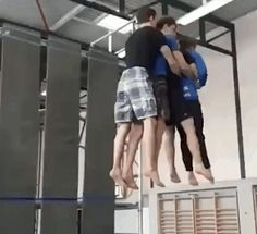 4 man tandem backflip   fun funny funny pics
