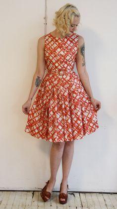 1950s Dress // vintage 1950s dress // Bamboo by dethrosevintage, $68.00