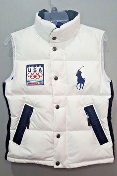 756660053a2 Ralph Lauren Women s Team USA 2010 Olympics White Big Pony Puffer Vest Sz  Small