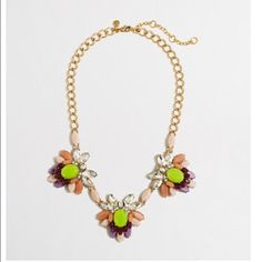 Jcrew cluster statement necklace Beautiful pop of color to any outfit J. Crew Jewelry Necklaces