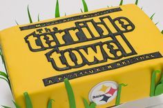 Pittsburgh Steelers Terrible Towel Cake by Bethann Goldberg!