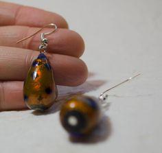 Tear drop earring-Handmade Venetian Glass Beads  by Unikacreazioni
