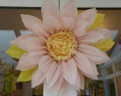 1x Medium 28cm Bermuda pink Tissue Paper by gisellesbloom on Etsy