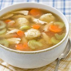 Quick Chicken and Dumpling Soup from Cooks Country Kitchen.