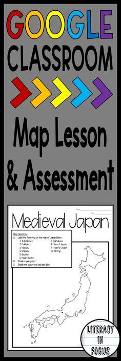 Medieval Japan Samurai CCS Reading \ Want Ad Activity Activities - copy map japan world war 2