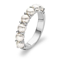 "pearl eternity ring- June birth""stone"""