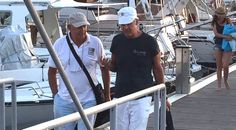 Foto Claudio Baglioni a Lampedusa