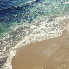 photography, nautical decor, abstract, aqua, blue, green, beach house, minimalist - Wild Coast II photograph