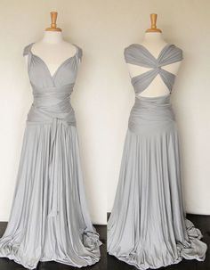 Convertible Infinity Dress in light grey Floor by madestudio