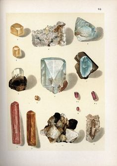 illustrated gems + minerals...