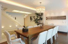 mesa de jantar para ambientes grandes