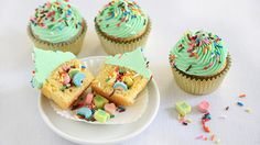 Lucky Charms Surprise Inside Cupcakes