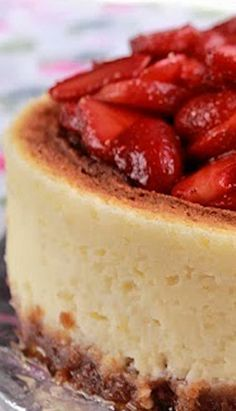 Ricotta Cheesecake With Strawberries (1) From: Baking Yummies, please visit