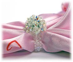 Swarovski Crystal Beaded Handmade Unique Ring