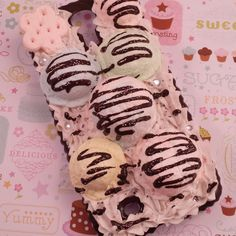 Decoden Inspired Phone Case for Samsung Galaxy S4, Scoops of Ice Cream, Swirls of Whipped Cream, and Dark Chocolate Fudge Sauce