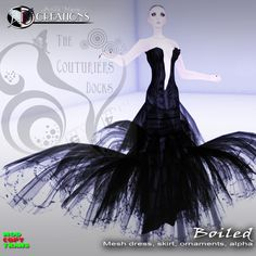 *Boiled mesh dress* for The Couturier's docks    The Couturier's Dock is back with a new wonderful store in a new stunning location: *Salimar* Luxury District!    The event will start Jan. 30th at 9,00 Am SLT!    Only 70 pieces for half price only for the during of the event.