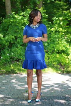 Prissysavvy: Blue: Peplum And Bow