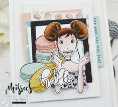 Mail Art Envelopes, Mama Elephant, Studio Lighting, Lawn Fawn, Hero Arts, Little Miss, Labels, Crafty, Handmade Cards