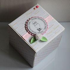 """Exploding box, """"pudełko eksplodujące"""" - pamiątka I Komunii Św. dla dziewczynki. Exploding Boxes, Container, Canisters, Explosion Box"""