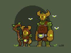 Pixel art > Horned Creature Sprites > Enchanted Forest Dwellers > pixelart | WoostarsPixels  #Pixel_Dailies Game Character Design, Game Design, Character Art, Pixel Art Sprites, Arte 8 Bits, Pixel Drawing, Pixel Animation, Anime Pixel Art, 8bit Art