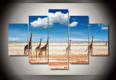 Own this amazing Africa safari giraffe wall canvas today we will ship the canvas for free. This is the perfect centerpiece for your home. It is easy to assemble and hang the panels together which makes this a great gift for your loved ones.  This painting is printed not handpainted and is ready to hang! We have 1 options for this canvas -- Size 1: (20x35cmx2pcs, 20x45cmx2pcs, 20x55cmx1pc) Limited quantities left. www.octotreasures.com