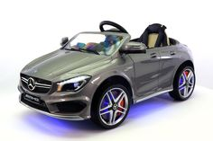 mercedes cla45 12v kids ride on car mp3 usb player battery powered wheels rc parental remote grey