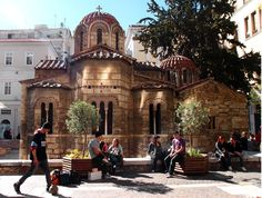 morning in sunny Athens March 2013 - I loved this little chapel.