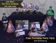 Free Star Wars: The Force Awakens Printable Party Decoration Pack! #TheLightSide #TheForceAwakens #StarWars -