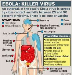 Ebola Virus Infection Effects and Symptoms