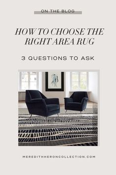 (1) How To Choose The Right Area Rug For Your Space – Meredith Heron Collection Questions To Ask, This Or That Questions, Choose The Right, Cool Rugs, Heron, House Rooms, Your Space, Family Room, My Design